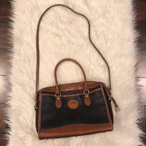 VINTAGE Dooney & Bourke all leather bag w/strap